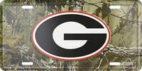 Brand University Of Georgia Bulldogs Realtree Camo License Plate