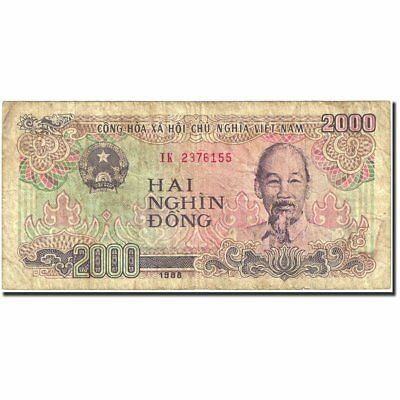 1988 Vf Keep You Fit All The Time 20-25 #270142 Tireless 1988-1991 Banknote 2000 Dng Km:107a Vietnam