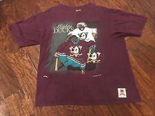 Vintage Nutmeg Mills Anaheim Mighty Ducks T-Shirt Men's XL 90's NHL