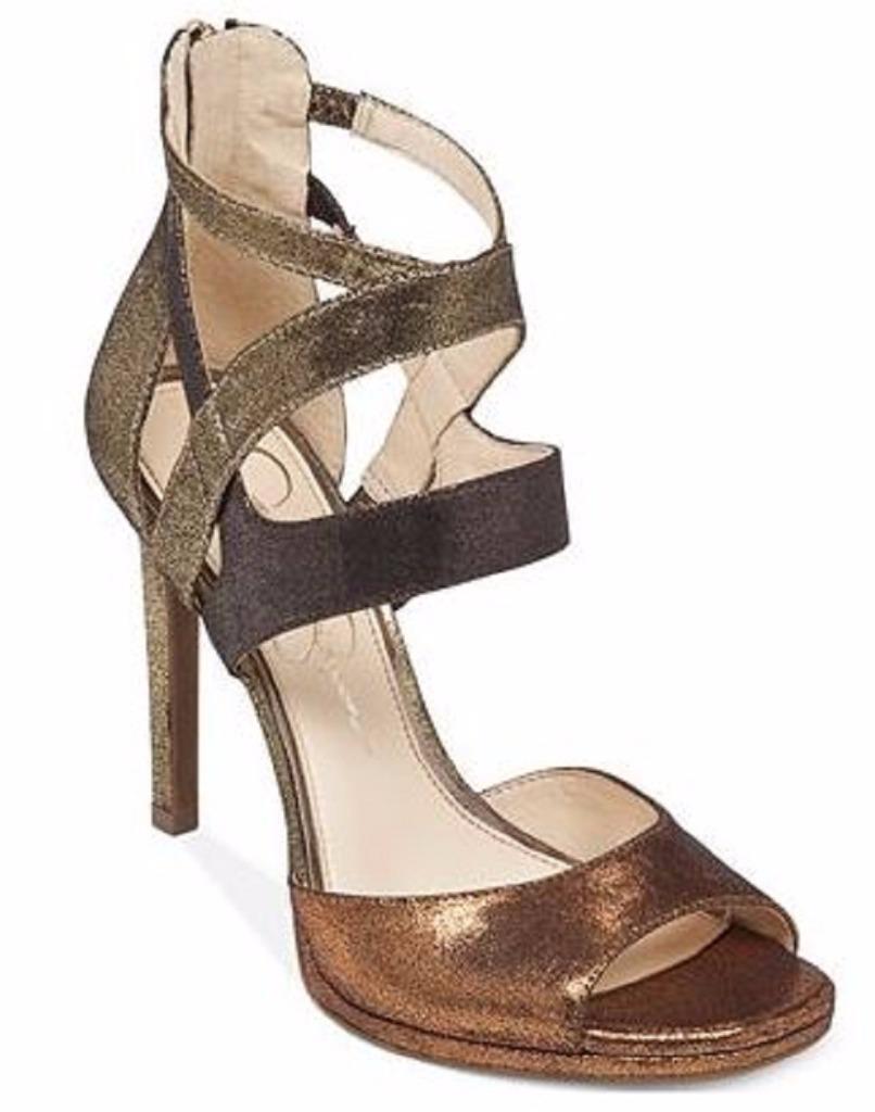 alta qualità genuina Donna  Jessica Simpson MARIANI Dress Dress Dress Sandal Heels Copper Combo Dusty Metallic  migliore qualità