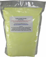 3 Lb Ground Yellow Sulfur Powder 99.5+% Pure Commercial Grade Sulphur Feedstock