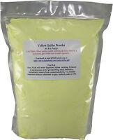 3 Lb Ground Yellow Sulfur Powder 99.5+% Pure Commercial Grade Sulphur Feedstock