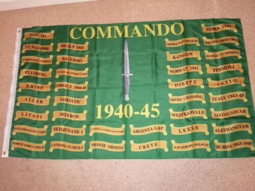 Commando 1940-45 WW2 Battle Honours  Flag 3X5 ft