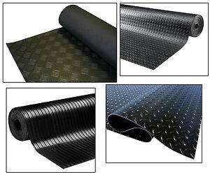 Image Is Loading Black Diamond Checker Plate Penny Coin Rib Rubber