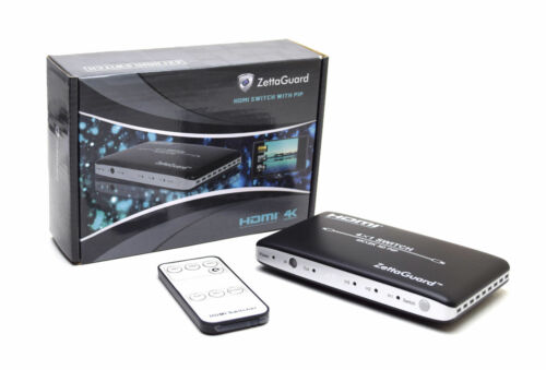 4K 3D 1080p 3 Port High Speed PIP Remote Control HDMI Switch Selector Splitter