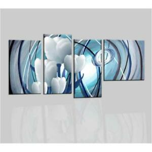 Quadri moderni astratti dipinti a mano olio su tela fiori for Quadri moderni astratti su tela