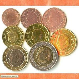 Kursmuenzensatz-Belgien-g-J-1c-2-Euro-Muenze-KMS-alle-8-Muenzen-Satz-Eurosatz-Set