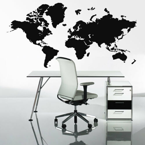 Extra Large World Map Wall Stickers Globe Graphics Vinyl Art Bedroom Decals deco