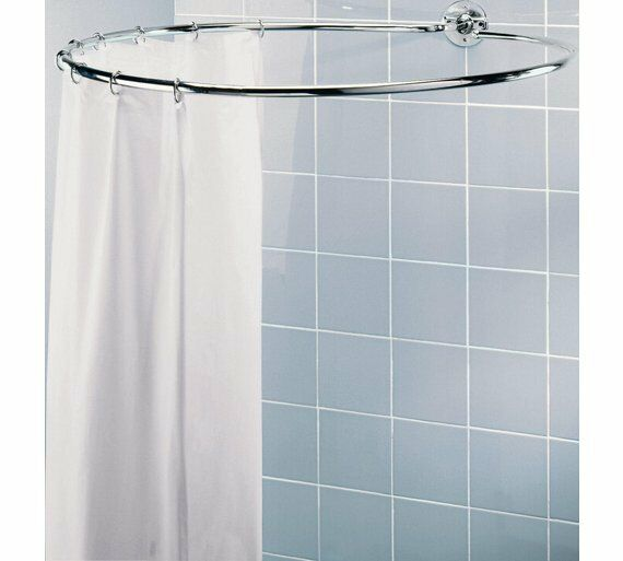 Home Circular Shower Rail Excellent Job of Supporting Your Shower Chrome Plated