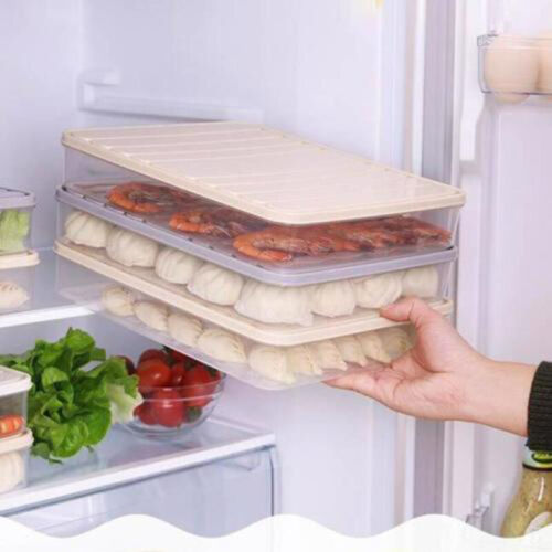 Large Refrigerator Box Dumpling Meat Clear Container Storage Food Portable