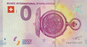 BILLET-0-EURO-MUSEE-INTERNATIONAL-D-039-HORLOGERIE-SUISSE-2018-NUMERO-4400