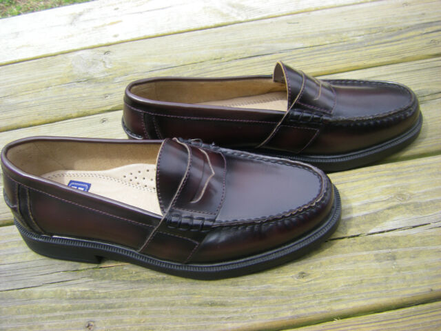 279e826a557 NWOB Nunn Bush Size 8.5M Lincoln Burgundy Slip-On Penny Loafer Shoes MSRP   80