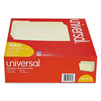 Universal File Folders 1/3 Cut Assorted Two-ply Top Tab Letter Manila 100/box on sale