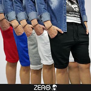 Jeans-Tuta-Turca-Uomo-Pantaloncino-s-m-l-xxl-Corto-5-Colori-Sport-Bermuda-Zero81