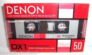 DENON-DX1-50K-vintage-audio-cassette-blank-tape-faded-sealed-Japan-rare