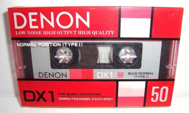 DENON DX1/50K vintage audio cassette blank tape faded sealed Japan rare