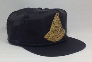 Black Masonic Past Master No Square Nylon Cap