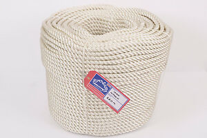 Sunny Everlasto Three Strand Nylon Mooring/anchoring Rope And Great Variety Of Designs And Colors 20mm X 220m Coil Famous For High Quality Raw Materials Full Range Of Specifications And Sizes