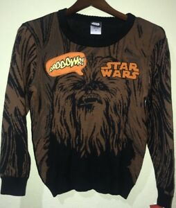 10-12 NWT STAR WARS CHEWBACCA PULLOVER SWEATER WITH SOUND BOYS SIZE M