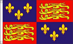 ROYAL-STANDARD-ENGLAND-FLAG-5-x-3-1405-1603-16th-Century-King-Richard-Banner