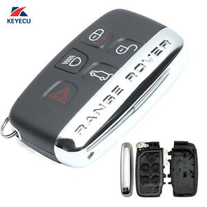 Smart Remote Car Key Shell Case Fob 5 Button For Land Rover Range