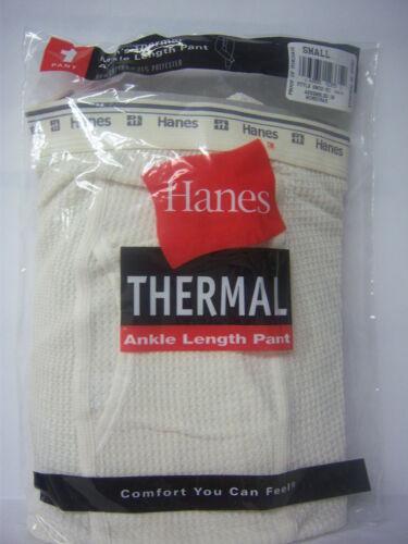 HANES THERMAL ANKLE LENGTH PANTS MEN SIZE SMALL Waist 30-32 BEIGE NIP