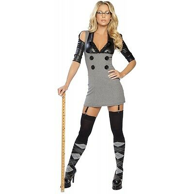 Sexy Teacher Costume Adult School Girl Secretary Halloween Fancy Dress