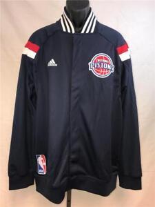 New Detroit Pistons Mens L-XL-2XL-3XL +2 On Court Warm Up Jacket