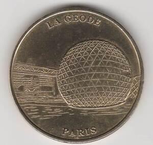 A 1998 TOKEN MEDAILLE SOUVENIR MDP -- 75 019 N°2 LA GEODE PARIS