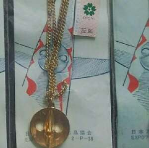 70th-Osaka-Expo-Commemoration-Tower-of-the-Sun-Golden-Face-Necklace-C-from-JP
