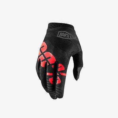 100/% ITRACK Guanti Nero Camo MTB DH MX BMX MOTOCROSS ENDURO QUAD