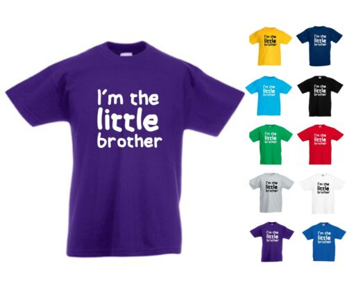 I/'M THE LITTLE BROTHER NOVELTY KIDS TSHIRT PERFECT SURPRISE PRESENT BIRTHDAY