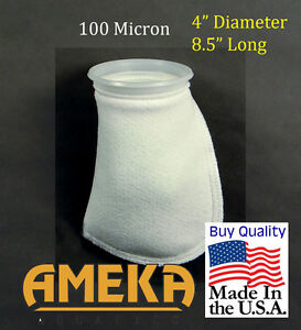 Filter-Sock-4-034-x-8-5-034-100-Micron-Short-Polyester-Felt-High-Quality-Made-in-USA