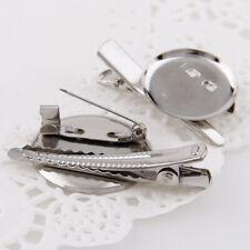 10x Extra Large Dual Brooch Pin Back Base Hair Clip DIY Findings ODHN