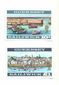 Guernsey-1970 £1.00 and 10/- Perf 13 mnh