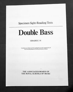 Abrsm Specimen Sight-reading Tests-double Bass Grades 2 - 8-afficher Le Titre D'origine