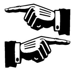x2 HAND POINTERS DOOR WINDOW VINYL STICKER STICKERS DIRECTION ARROWS LEFT RIGHT