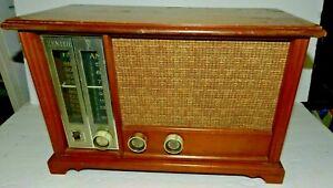 1959-Zenith-AM-FM-Long-Distance-Tube-Radio-Model-X334-Works-Vintage-Antique-Tabl