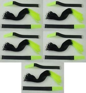 30 x Klettband Kabelbinder 30cm x 25mm neon rot Kabel Klettbänder Kabelklettband