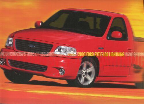 2003 Ford SVT F-150 Lightning Deluxe 16-Page Dealer Sales Brochure Mint!