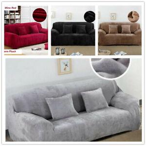 DE 1-4 Sitzer Stretch Couch Cover Sofabezug Sofa Abdeckung Schonbezug Protector