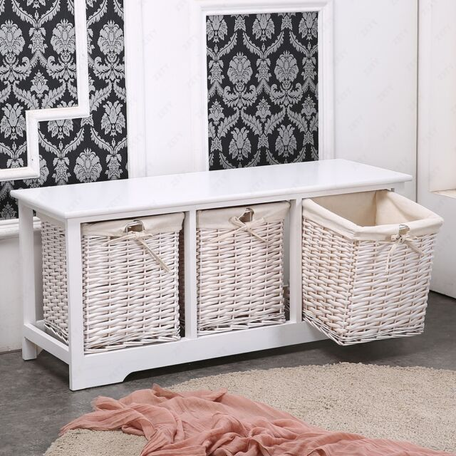 Keter Rattan Style 3 Drawer Cart.Suncoo 3 Drawer Wood White Shabby Chic Cupboard Cabinet Table W