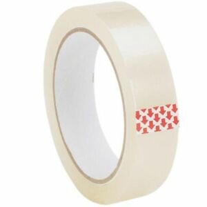 """6 X ROLLS CLEAR PACKING TAPE CELLOTAPE SELLOTAPE 25MM 1"""" X 50M"""