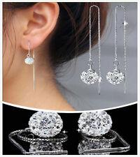 Mode lange Haken Ohrringe Kristallohr-Bolzen-Tropfen baumeln Ohrringe Schmuck