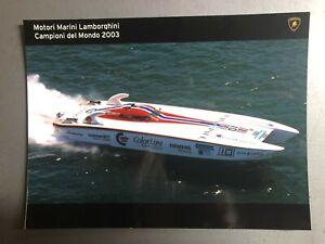 2003 Lamborghini Off-Shore Powerboat Factory issued Press Photo RARE!! L@@K 8x6