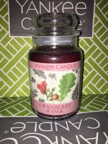 Arándano Rojo /& Oak Yankee Candle Tarro Grande De 623g 22oz-a Estrenar Genuino