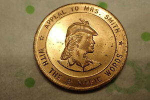 Vintage-Door-to-Door-Salesman-Token-Coin-Vintage-Advertising-8-Magic-Words