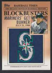 2012-TOPPS-COMMEMORATIVE-LOGO-RELIC-JAY-BUHNER-PATCH-SEATTLE-MARINERS-BP-6