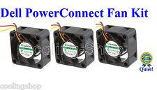 Quiet! Dell PowerConnect 2748 Fan Kit (XP166) 3 Fans 18dBA Noise each Fan