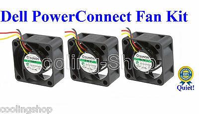 Pack 3x New OEM replacement fans for Dell PowerConnect 8024 8024F Fan Assembly